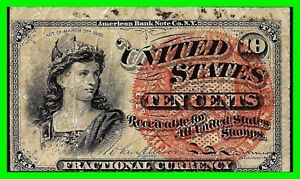 March 3, 1863 Fourth Issue Ten Cent Fractional Currency Note