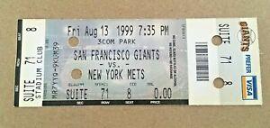 Mike Piazza HR #224 Home Run August 13 1999 8/13/99 Giants Mets Full Ticket