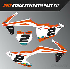 2017 KTM STOCK STYLE PART GRAPHICS KIT SX SXF EXC EXC-F 65 85 125 250 350 450