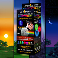 Night Sports 3 pack Led Spectrum Night Golf Balls Brightest and Best #1