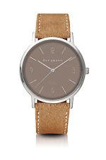 Original Bergmann Cor Uhr sandfarben sandfarbenes Wildlederband klassisch Unisex