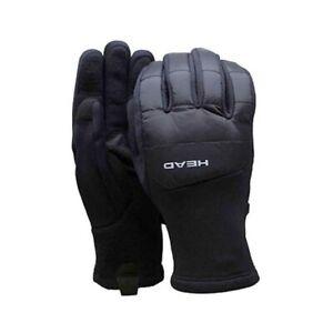 HEAD Men's Hybrid Glove - Black Men's Size Large Warm winter gloves Sensatec NWT