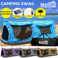 Mountview King Single Swag Camping Swags Canvas Dome Tent Hiking Mattress Daddy