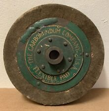 Antique The Carborundum Company Green Gold flexible pad 1925 steel industrial