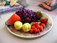 *1 dolls house food fruit  platter maison de poupée Dolls house fimo puppenhaus