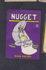 Ancienne étiquette allumettes BN59055 Nugget Cirage Chaussures