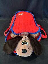 Vintage 1985 TONKA Pound Puppies Brown & Tan W/Red & Blue Puppy Carrier - EUC!