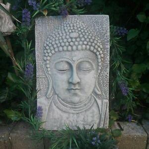 STEINPLATTE -RELIEF -BUDDHA 33 X 22 CM