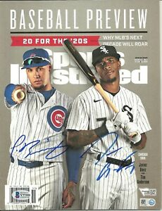 Javier Baez / Tim Anderson Autographed Sports Illustrated Spring 2020 ! Cubs Sox
