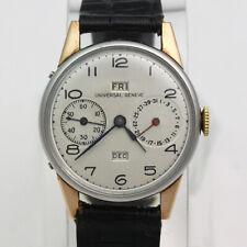 Stainless Steel Triple Calendar Universal Geneve Enversteel Manual Wristwatch