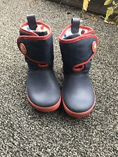Crocs Boy/Girl Toddler-Size 12 -Blue Lined Rain Snow Boots