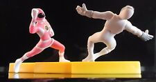 Rare Mighty Morphin Pink Power Ranger Kimberly Fighting Putty on Lightning Bolt