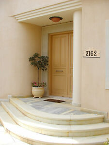 Stonework House Numbers Personalized Address Plaque