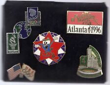 1996 Atlanta Olympic 5 Pin Set In Original Package 1994 Lillehammer Bridge USA