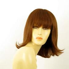 perruque femme 100% cheveux naturel châtain clair cuivré ref TABATA  30