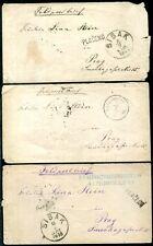 ÖSTERREICH BuH 1878 VORLÄUFER drei schöne BELEGE je BEFUND(Z8128