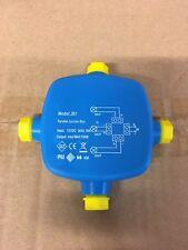 4 vías de 12V IP68 LED Conector Aire Libre Impermeable Caja de unión de baja tensión