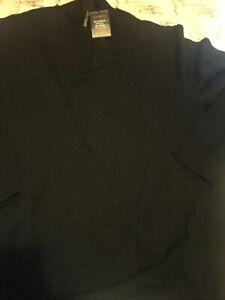 Men's Club Room 1/4 Zip Merino Wool Blend  Sweater Black Sz M NWT New