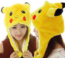 Pokemon Go Pikachu Warmer Hat Cap Adult Kids Beanie plush Mask Toy Costume C155