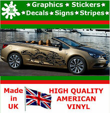 """21"""" High Car Side Stripes Graphic Decal Vinyl Stickers Van Auto Rally Race F1_49"""