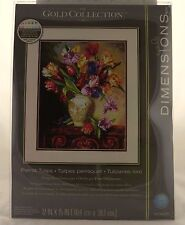 Parrot Tulips Counted Cross Stitch Kit Gold Collection Dimensions NEW flower art