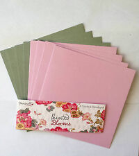 """Dovecraft Painted Blooms 6"""" x 6"""" Card Blanks & White Envelopes x 8"""