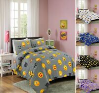 Luxuries IKON EMOJI Face Duvet Quilt Cover + Pillow Case Bedding Set All Sizes