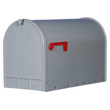 Gibraltar Jumbo Post Mount Rural Mailbox Galvanized Steel Heavy-Duty Extra Large