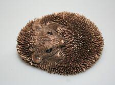 Hedgehog Zippo Curl Baby Bronze Cast Figure Frith Sculpture TM050 Thomas Meadows