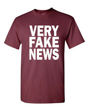 Very Fake News  Donald Trump Jr Fake News Parody Men's Tee Shirt 1624