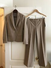 NWT Theory Suits Gabe Wool Blazer Max Pants Size 4 Camel