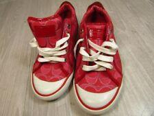 COACH  Signature Womens shoes Barrett size 8.5  AUTHENTIC Canvas Sneakers