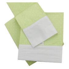 Kidz Kiss Petit Dots Premium Cotton 3 Piece Cot Sheet Set [Green]