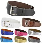 B570 - Genuine Leather Casual Jean Belt Strap with Rollerbuckle, 1-1/2
