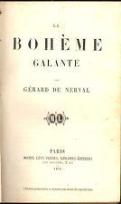 LA BOHEME GALANTE. GERARD DE NERVAL.