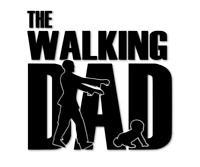 The Walking Dad Aufkleber Baby on Board Eltern Autoaufkleber decal 24 #8315