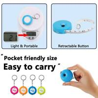 UK 60inch Retractable Tape Measure Keychain Ruler Tape for Dieting Tailor
