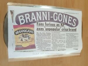 Brannigans Smoked Ham & Pickle Crisps 5 X 25.5 Bags in Sealed Box