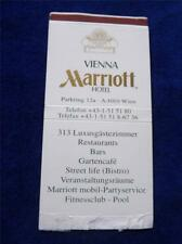 MARRIOT HOTEL VIENNA BISTRO RESTAURANT VINTAGE MATCHBOX COVER MATCHBOOK