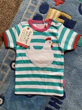BNWT Toby Tiger Top T-shirt Age 6-12 Months Chicken Design