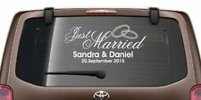 Heckscheiben Aufkleber Autoaufkleber Hochzeit EHE Just Married Sticker Auto 15