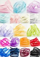 Satin Edge Organza - Sheer Ribbon - 19 Colours - 10mm 15mm 25mm 38mm Cut Lengths