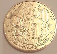 Collectible coin Monnaie De Paris Disneyland Paris 2018 + 1 map plan
