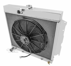 1964 1965 1966 - 1969 Plymouth 3 Row DR Radiator & Fan Combo (22 inch Core)