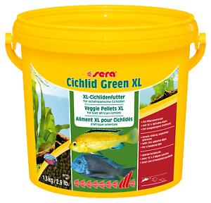 3.6kg Sera Cichlid Green XL Veggie Pellets Food 10L Aquarium Fish Tank Variety