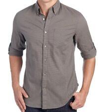 John Varvatos USA Mens Long Sleeve Shirt * Brown Check Pattern XXL NWT