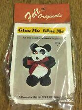 Vintage Felt Originals Sew and Glue Snowman Ornament Kit 7016