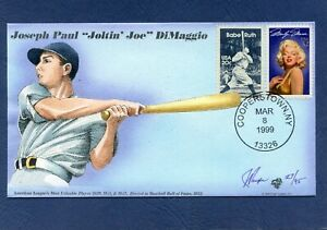 Baseball Event Passing of Joe DiMaggio Pugh Hand Painted Cachet First Day Cover