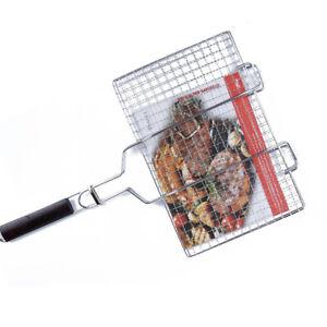 Griglia per barbecue in acciaio gratiola con impugnatura in legno picnic  brace
