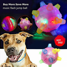 3 Pieces Cat Dog Pet Chew Jumping Activation Electric Toys Ball LED Light Up Toy